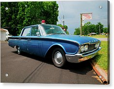 1960 Ford Police Car In Mount Airy Acrylic Print