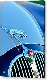 1960 Jaguar Mk II 2.4-liter Saloon Grille Emblem - Hood Ornament Acrylic Print by Jill Reger
