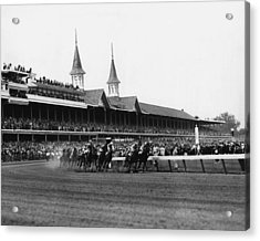 1960 Kentucky Derby Horse Racing Vintage Acrylic Print by Retro Images Archive