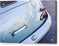 1960 Porsche 356 B 1600 Super Roadster Rear Emblem - Taillight Acrylic Print by Jill Reger