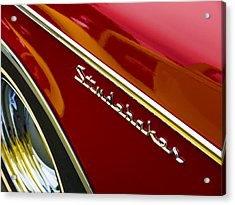 1960 Studebaker Hawk Acrylic Print by Carol Leigh