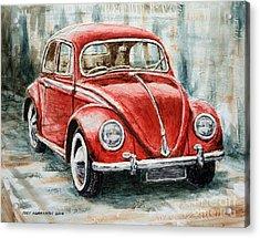 1960 Volkswagen Beetle 2 Acrylic Print by Joey Agbayani