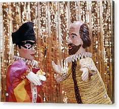 1960s 1970s Hand Puppets Show Harlequin Acrylic Print