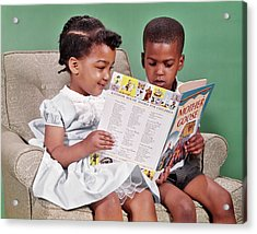 1960s African American Boy And Girl Acrylic Print