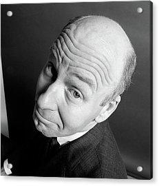 1960s Bald Man Head Upturned Looking Acrylic Print