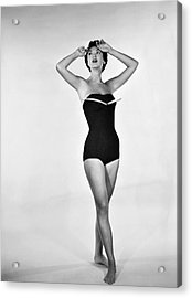 1960s Bathing Suit Design Acrylic Print by Underwood Archives