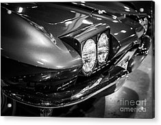 1960's Corvette In Black And White Acrylic Print