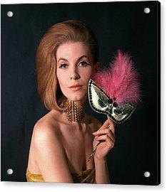 1960s Glamorous Woman In High Fashion Acrylic Print