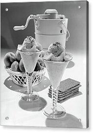 1960s Ice Cream Machine Home Made Peach Acrylic Print