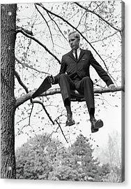 1960s Man In Tree Branch Limb Acrylic Print