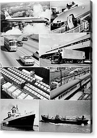 1960s Montage Of Various Forms Acrylic Print