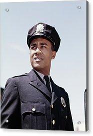 1960s Portrait African American Police Acrylic Print