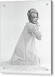 1960s Profile Portrait Of Blond Woman Acrylic Print