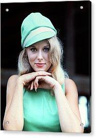 1960s Sexy Blonde Woman Portrait Chin Acrylic Print
