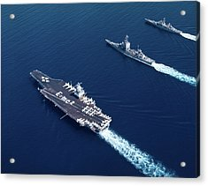 1960s Three Naval Ships On Parallel Acrylic Print