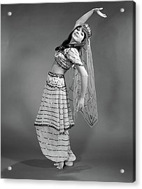 1960s Woman In Belly-dancer Costume Acrylic Print