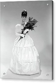 1960s Young Woman In Evening Dress Acrylic Print