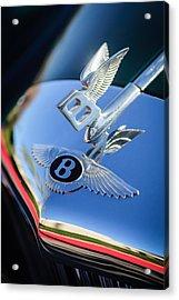 1961 Bentley S2 Continental Hood Ornament - Emblem Acrylic Print by Jill Reger