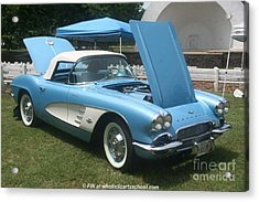 1961 Blue Jewel Metallic Corvette Acrylic Print