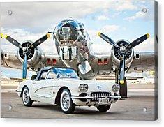 1961 Chevrolet Corvette Acrylic Print by Jill Reger