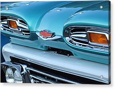 1961 Chevrolet Headlights Acrylic Print by Jill Reger
