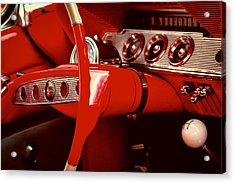 1961 Chevy Impala Ss Nomad Acrylic Print by David Patterson