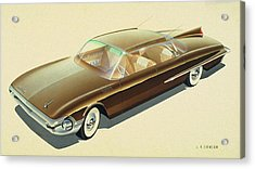 1961 Desoto  Vintage Styling Design Concept Rendering Sketch Acrylic Print