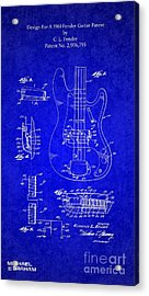 1961 Fender Guitar Acrylic Print by Doc Braham