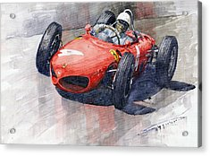1961 Germany Gp Ferrari 156 Phil Hill Acrylic Print by Yuriy Shevchuk