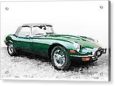 1961 Jaguar E-type Watercolor Acrylic Print