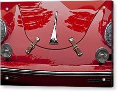1961 Porsche 356 B Roadster Hood Emblem Acrylic Print by Jill Reger