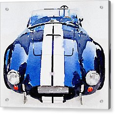 1962 Ac Cobra Shelby Watercolor Acrylic Print by Naxart Studio