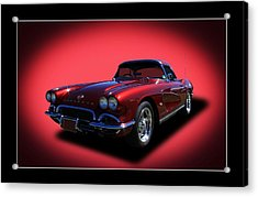 Acrylic Print featuring the photograph 1962 Corvette by Keith Hawley