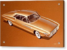 1962 Desoto  Vintage Styling Design Concept Rendering Sketch Acrylic Print