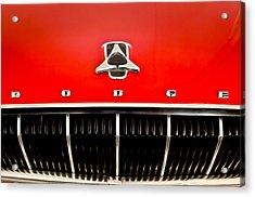 1962 Dodge Polara 500 Emblem Acrylic Print by Jill Reger
