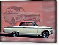Acrylic Print featuring the photograph 1962 Ford Fairlane 2 Door Sports Coupe by Tim McCullough