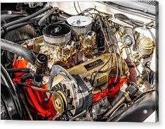 1962 Impala Ss 409 Engine Acrylic Print