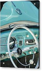 1962 Volkswagen Vw Beetle Cabriolet Steering Wheel Acrylic Print