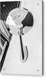 1963 Chevrolet Corvette Split Window Rear View Mirror -287bw Acrylic Print