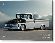 1963 Chevy 'low Rider' Pick-up Truck Acrylic Print by Dave Koontz