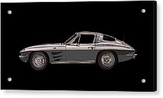 1963 Corvette Split Rear Window Acrylic Print by Jack Pumphrey