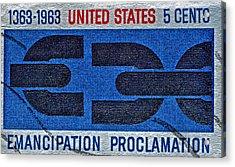 1963 Emancipation Proclamation Stamp Acrylic Print