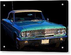 1963 Ford Galaxy Acrylic Print by Davandra Cribbie