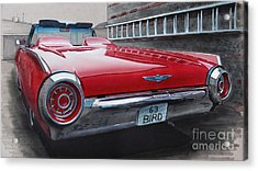1963 Ford Thunderbird Acrylic Print by Paul Kuras