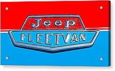 1963 Jeep Fleetwood Emblem Acrylic Print by Jill Reger