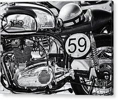 1963 Manx Norton Monochrome Acrylic Print by Tim Gainey