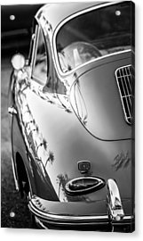 Acrylic Print featuring the photograph 1963 Porsche 356b S Coupe Taillight -1241bw by Jill Reger