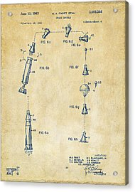 1963 Space Capsule Patent Vintage Acrylic Print by Nikki Marie Smith