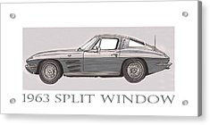 1963 Split Window Acrylic Print by Jack Pumphrey