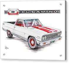 1964 Chevrolet El Camino Acrylic Print by Shannon Watts